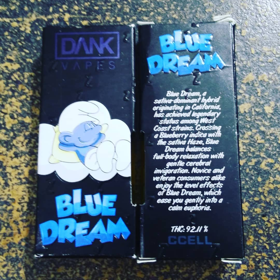 blue dream dank vapes cartridges