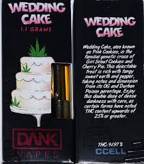 wedding cake dank vapes cartridges